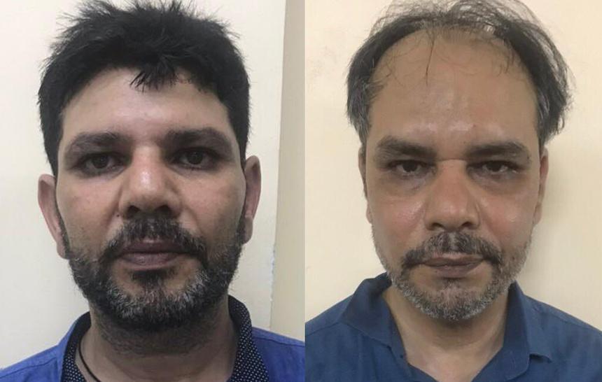 Zahid Abbas Ali và Ibrahim Ali bị khởi tố về tội Cướp giật tài sản. Ảnh:Công an cung cấp.
