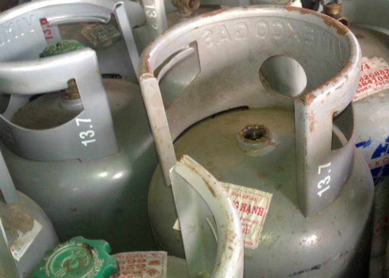 Nhận biết gas thật giả qua vỏ bình.