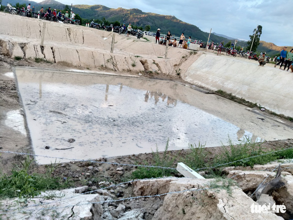 Kênh mương tưới Trường Sơn (thuộc xã Tây Thuận, huyện Tây Sơn, Bình Định), nơi 3 học sinh bị đuối nước - Ảnh: Tuổi Trẻ