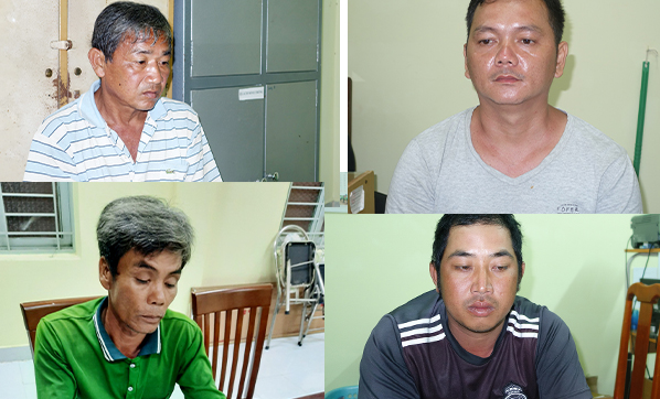 4 đối tượng đã bị khởi tố.