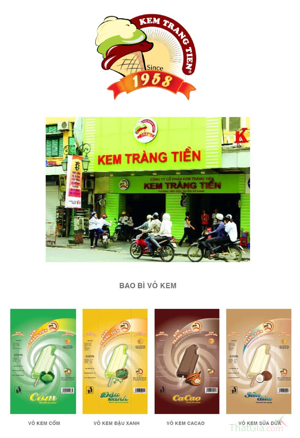 Bao bì kem Tràng Tiền.
