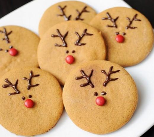 Bánh quy mặt tuần lộc