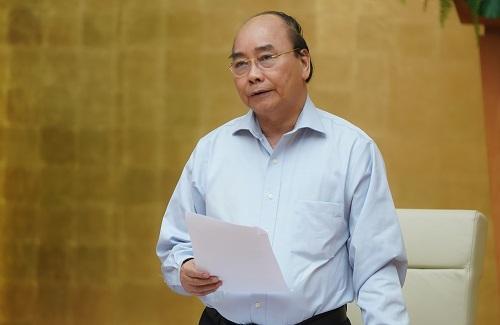 Thủ tướng Nguyễn Xuân Phúc chủ trì cuộc họp Thường trực Chính phủ nghe Ban Chỉ đạo quốc gia báo cáo về công tác phòng, chống dịch COVID-19. Ảnh: VGP