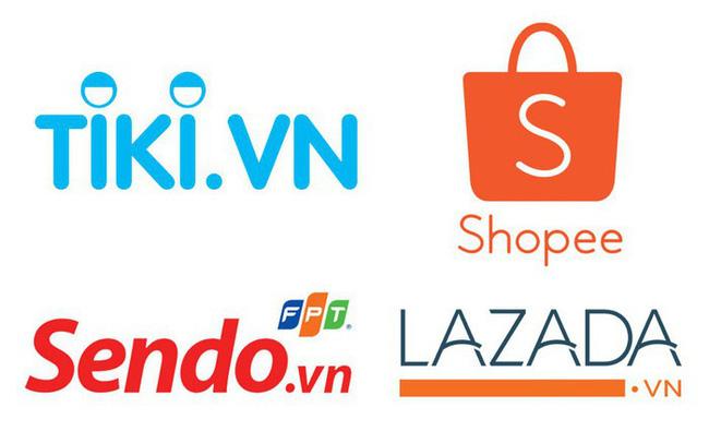 """Sau khi Adayroi của Vingroup """"khai tử"""", thị trường thương mại điện tử Việt Nam chỉ còn lại Shopee, Lazada, Sendo và Tiki."""