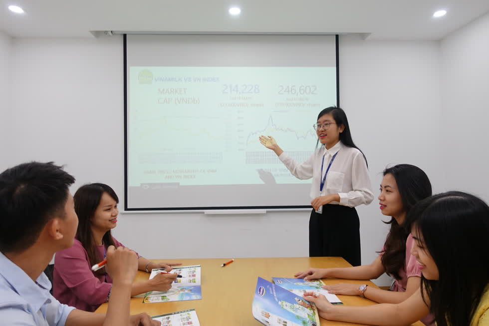 Đội ngũ nhân sự trẻ được tạo điều kiện để phát triển và thử thách bản thân với những vị trí quản lý trong Vinamilk.