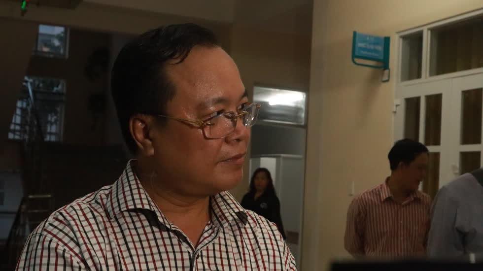 Ông Nguyễn Ngọc Cường, Phó Chủ tịch UBND quận 9, thông tin về những biện pháp để giải quyết vụ việc suất ăn bán trú kém chất lượng. Ảnh: Nhật Sang