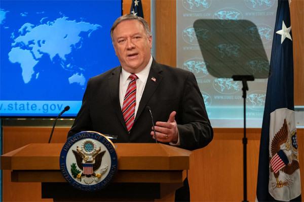 Ngoại trưởng Mỹ Mike Pompeo tại cuộc họp báo tại Washington ngày 10/11. Ảnh: AP