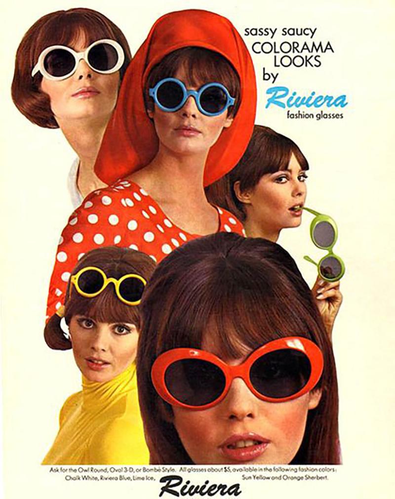 Poster quảng cáo của hãng kính mát Riviera trong giai đoạn này. (Ảnh: The Swinging Sixties)