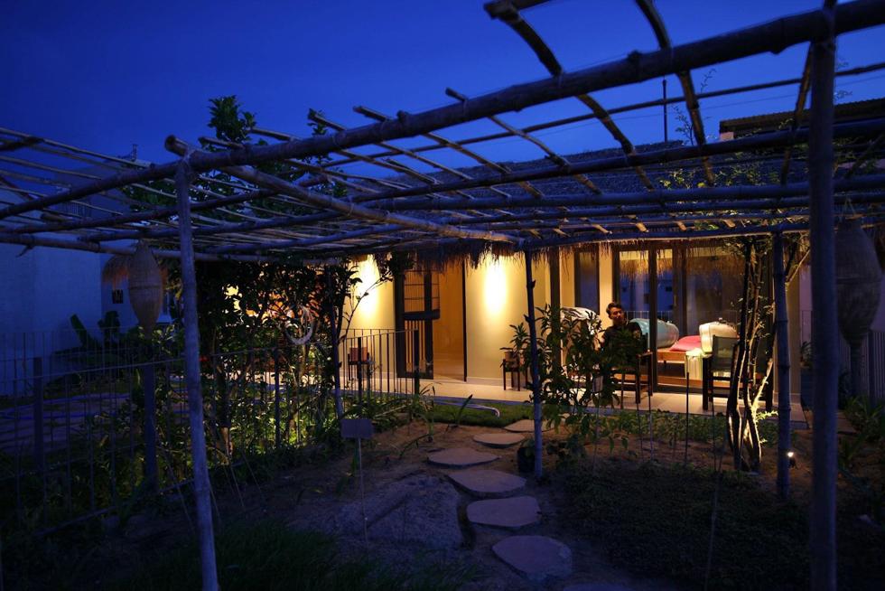 Vườn rau về đêm.