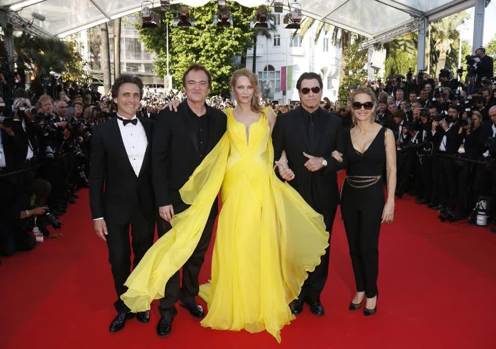 Nữ diễn viên Uma Thurman đến tham dựLiên hoan phim Cannes lần thứ 67 khai mạc khai mạc tại Pháp vào năm 2014.Ảnh: EPA.