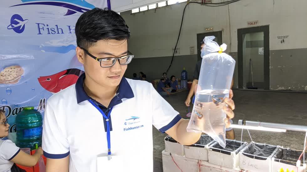 Anh Nguyễn Trần Công Hậu là người sáng lập trại cá giống Fish Hunter .