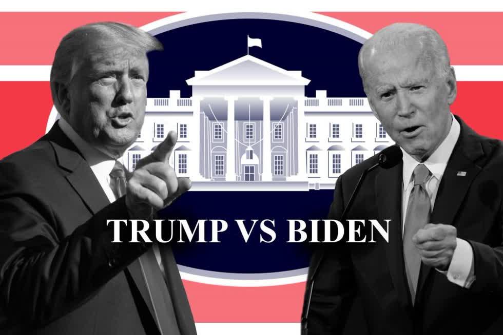 Ứng viên Joe Biden đã tạo ra cách biệt về tỷ lệ ủng hộ của cử tri so với Tổng thống Trump ở nhiều bang quan trọng 6 ngày trước cuộc bầu cử Mỹ 2020. Ảnh: Standard