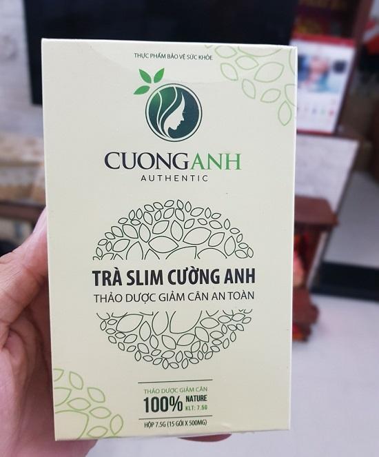 Cục An toàn thực phẩm cảnh báo người tiêu dùng không sử dụng 1 lô trà Slim Cường Anh vi phạm.