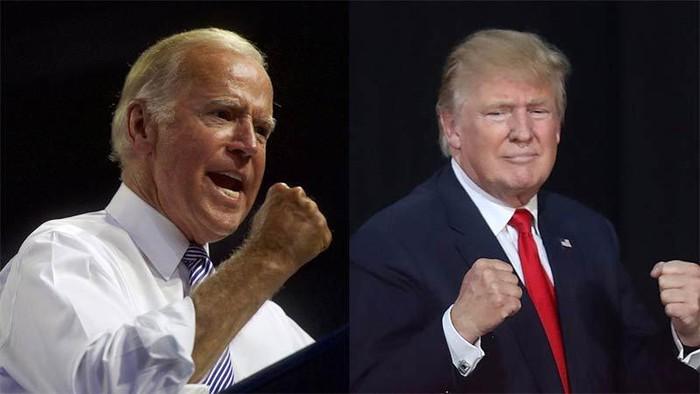 Cuộc đấu Trump-Biden giành các bang chiến địa diễn ra quyết liệt.Ảnh:Internet.