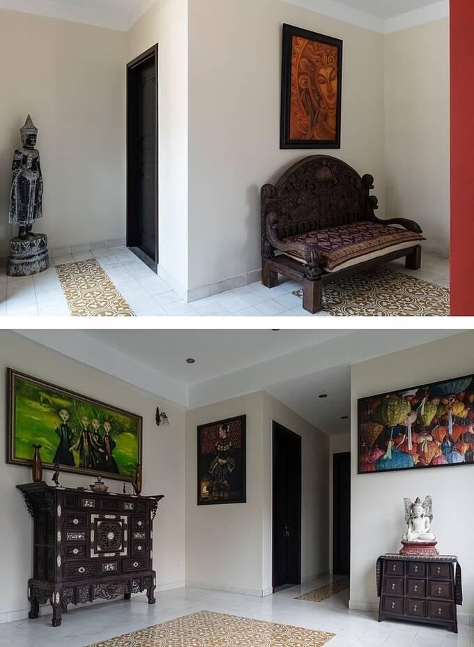 Ngôi nhà như được nhuộm màu của thời gian bằng những chi tiết xưa cũ, đầy hoài niệm.