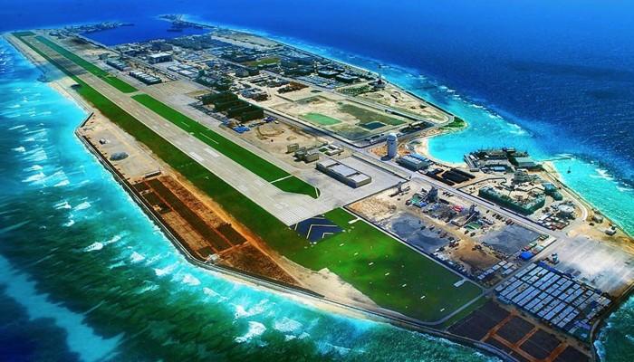 Đá Chữ Thập của Việt Nam trên biển Đông bị Trung Quốc chiếm đóng.
