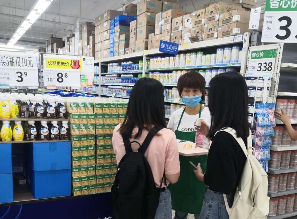 Sản phẩm sữa đậu nành Nuti phân phối qua Walmartđã được người tiêu dùng Trung Quốc đón nhận. Ảnh: A.Tuyết.