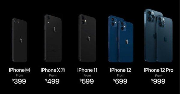 Giá bán chính thức series iPhone 12.