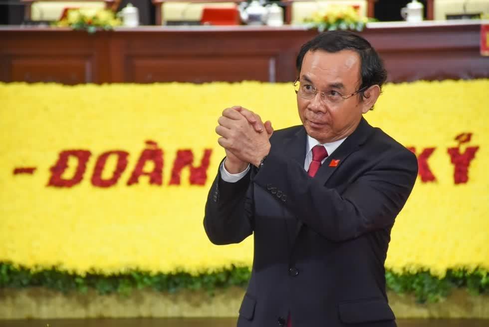 Ông Nguyễn Văn Nên là khách mời đặc biệt tại Đại hội Đảng bộ TP.HCM. Ảnh:Vietnamnet