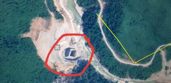 Hiện trường khu vực thủy điện được chụp qua Google Map