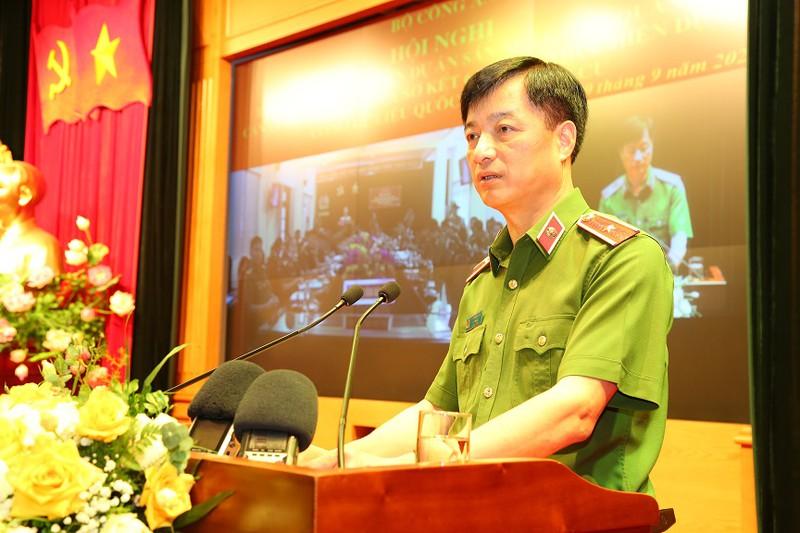 Thứ trưởng Bộ Công an Nguyễn Duy Ngọc phát biểu tại Hội nghị. Ảnh: Pháp Luật Việt Nam