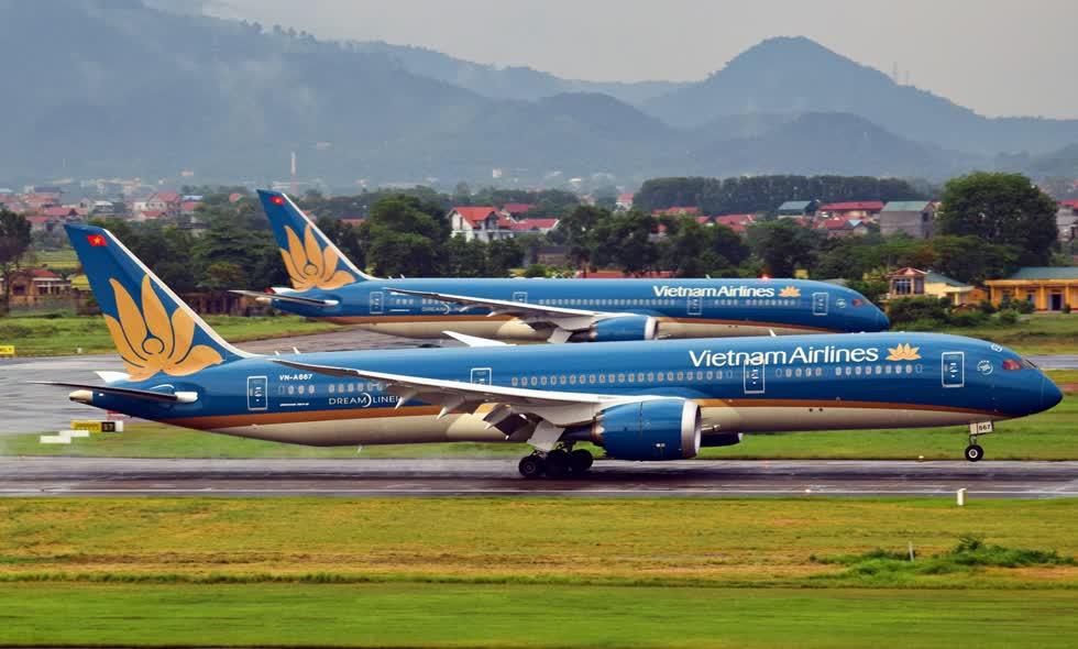 Các chuyến bay Việt Nam - Nhật Bản Vietnam Airlines sẽ khai thác bằng máy bay thân rộng Boeing 787. Ảnh: VNA