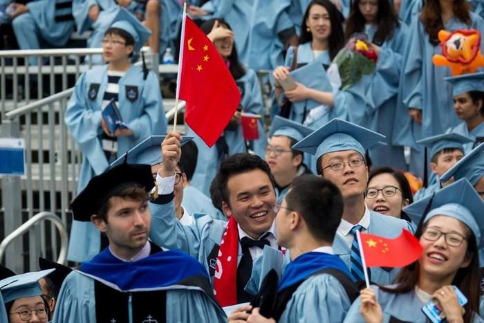 Sinh viên Trung Quốc tại Mỹ. Ảnh: THX