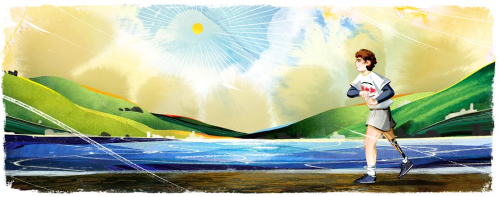 Terry Fox được Google tôn vinh bằng chính dự án mang tên ông.