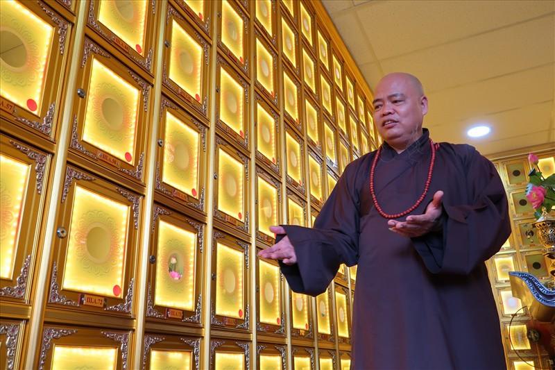 Thượng tọa Thích Thanh Phong, trụ trì chùa Vĩnh Nghiêm.Ảnh: Kiến Thức