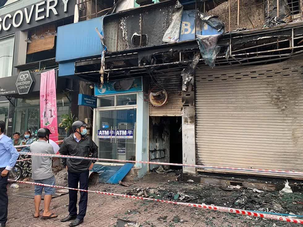 Hiện trường vụ cháy. Ảnh: Vietnamnet