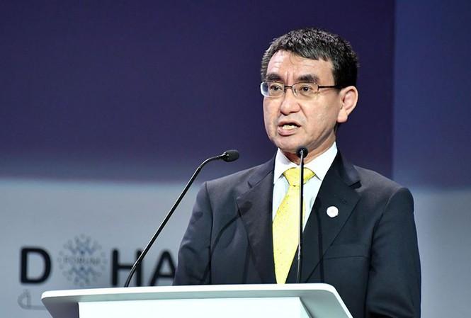 Bộ trưởng Quốc phòng Nhật Bản Taro Kono. Ảnh: Mofa Japan