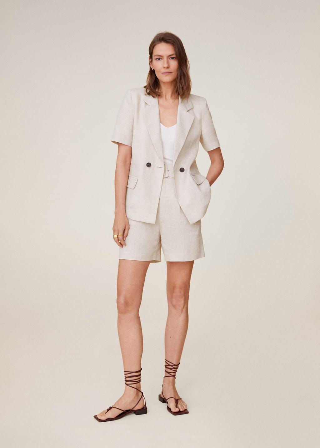 Mango short suit blazer