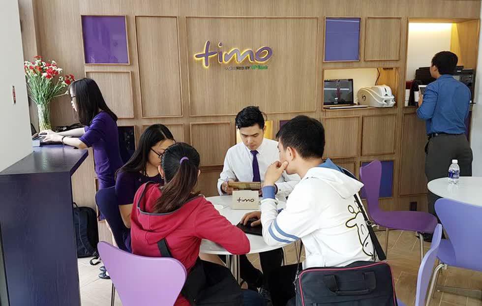 Điểm giao dịch của Timo thiết kế trẻ trung, có quán cà phê phục vụ ngay bên trong khu vực giao dịch với khách hàng. Ảnh: Timo