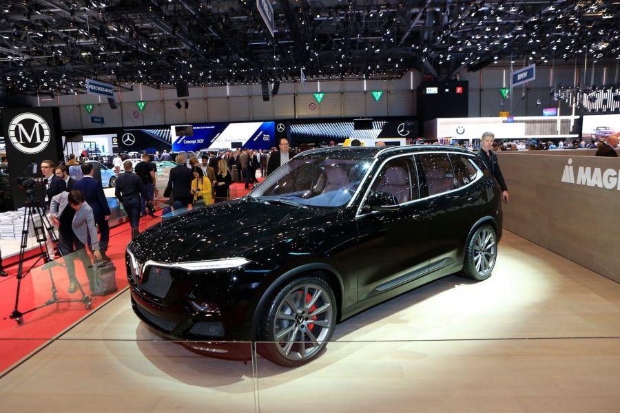VinFast Lux V8 từng trưng bày tại Geneva Motor Show 2019 diễn ra tại Thụy Sĩ.