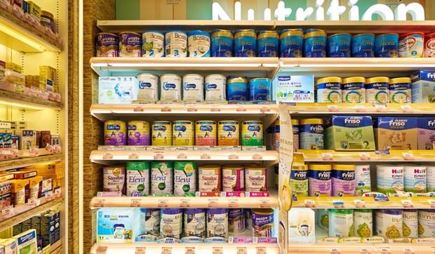 Kệ bày bán sữa bột tại một siêu thị ở Hong Kong. Nguồn:scmp.com