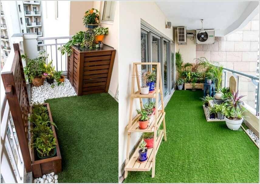 Logia chung cư có thể trang trí thành không gian vui chơi, thư giãn.