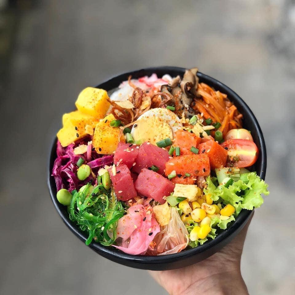 Hebi Poke được nhiều người đánh giá cao về chất lượng món ăn. Ảnh: FB Hebi Poke