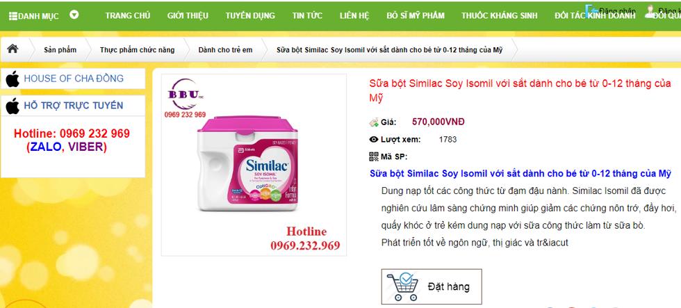 2 dòng sữa bột bị cho là chứa chất gây ung thư vẫn còn bán ở Việt Nam.