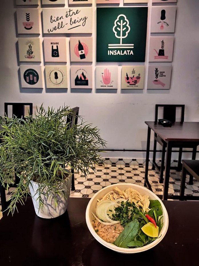 Insalata Salad là quán chuyên phục vụ đồ ăn đậm chất healthy. Ảnh: FB Insalata Salad