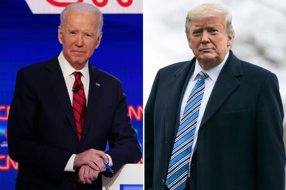Cựu Phó Tổng thống Biden và Tổng thống Trump. Ảnh: Getty Images