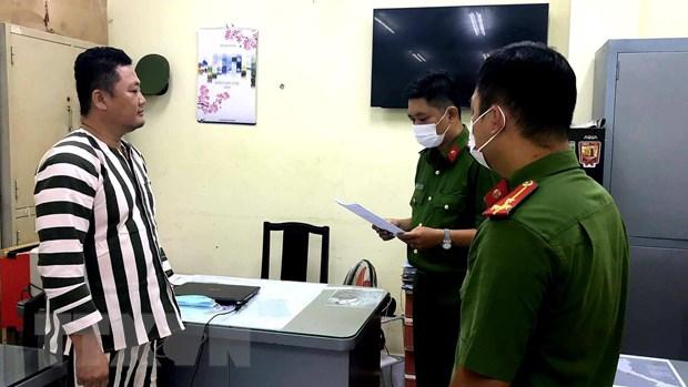 Bị can Ngô Minh Danh tại trụ sở công an TP.HCM. Ảnh: TTXVN