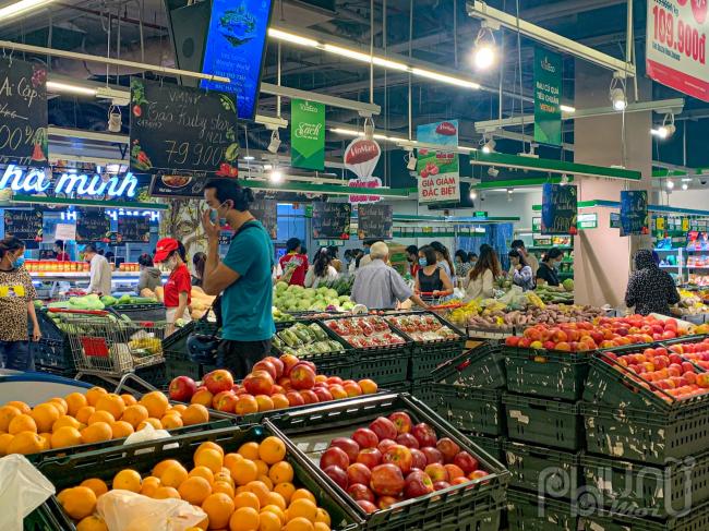 Các mặt hàng tiêu thụ mạnh nhất là rau, củ, quả tươi.