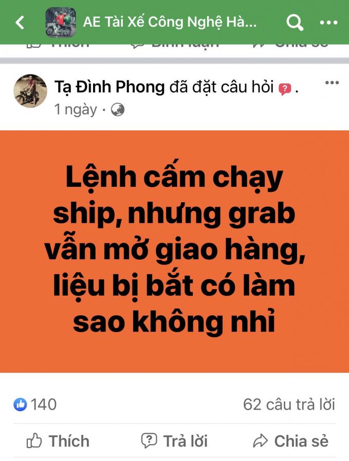 Shipper nào được phép hoạt động ở Hà Nội thời điểm này?