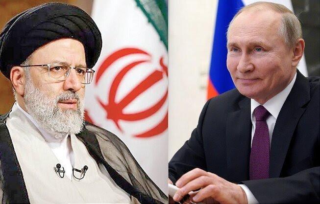 Cuộc gặp song phương giữa Tổng thống Nga Putin (phải) và Tổng thống Iran, Ebrahim Raisi tại Tajikistan đã bị hoãn vô thời hạn. Ảnh: ifpnews