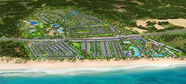 Happy Beach Villas – một hợp phần của phân kỳ The Tropicana, Tổ hợp Du lịch Nghỉ dưỡng Giải trí NovaWorld Hồ Tràm