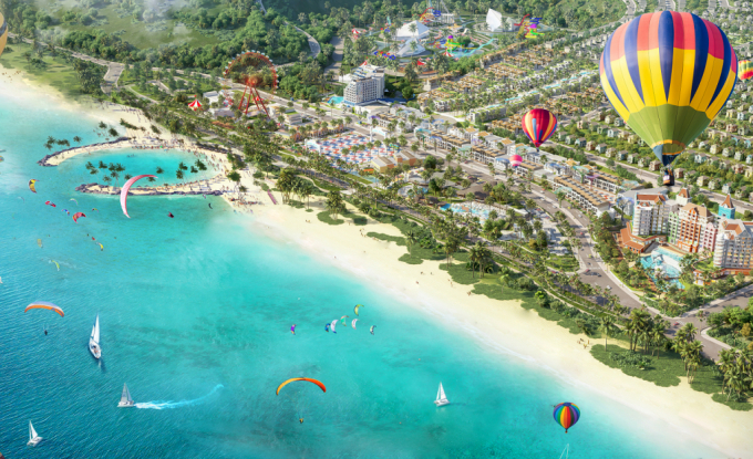 Phối cảnh công viên biển NovaWorld Phan Thiet