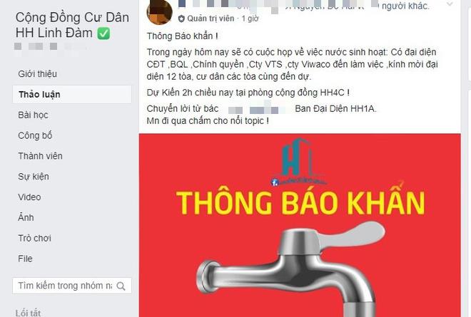 Thông báo khẩn từ khu đô thị Linh Đàm (Ảnh: Trí thức trẻ)
