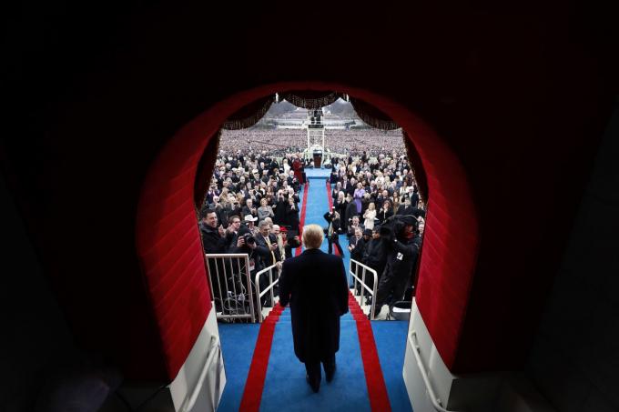 Ông Donald Trump đắc cử vị trí tổng thống Mỹ đến dự lễ nhậm chức vào tháng 1-2017. Ông trùm bất động sản đã vượt qua bà Hillary Clinton trong cuộc bầu cử năm 2016 - Ảnh: Getty Images