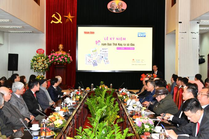 Đồng chí Võ Văn Thưởng, Ủy viên Bộ Chính trị, Bí thư Trung ương Đảng, Trưởng Ban Tuyên giáo Trung ương phát biểu tại buổi lễ kỷ niệm