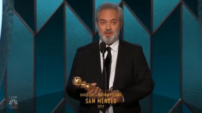 Đạo diễn Sam Mendes phim 1917 nhận giải Quả cầu vàng cho đạo diễn xuất sắc nhất